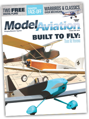 The October issue of Model Aviation magazine.