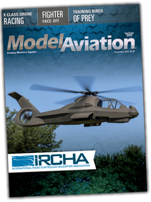 The December issue of Model Aviation magazine.