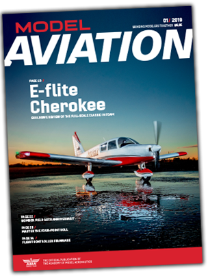 The January 2019 issue of Model Aviation magazine.