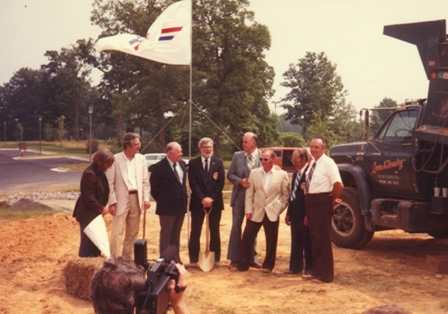 Groundbreaking ceremonies for the AMA Headquarters building in Reston Virginia, June 27, 1982.  (Source: National Model Aviation Museum Archives, AMA Collection #0001.)