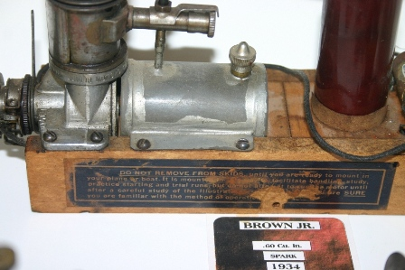 A view of the skids of a 1934 Brown Jr. Motor, Model B, serial number 1700, still on its original skids. (Source: National Model Aviation Museum Collection, donated by William Knepp, 1983.03.01.)