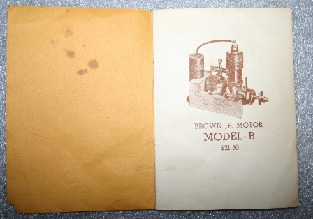 "The opening pages of the instruction manual that came with the Brown Jr. Motor, Model B when purchased in 1934. (Source: National Model Aviation Museum Collection, donated by William Knepp, 1983.03.01 [""Instructions Governing the Care and Operation of the Brown Jr. Motor,"" Brown Jr. Motors, 1934.])"