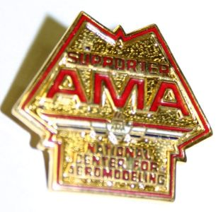 Supporters of the building fund could also could receive lapel pins.  This particular pin beloged to Frank Zaic.  (Source: (Source: National Model Aviation Museum Collection, donated by Frank Zaic, 1999.46.10.)
