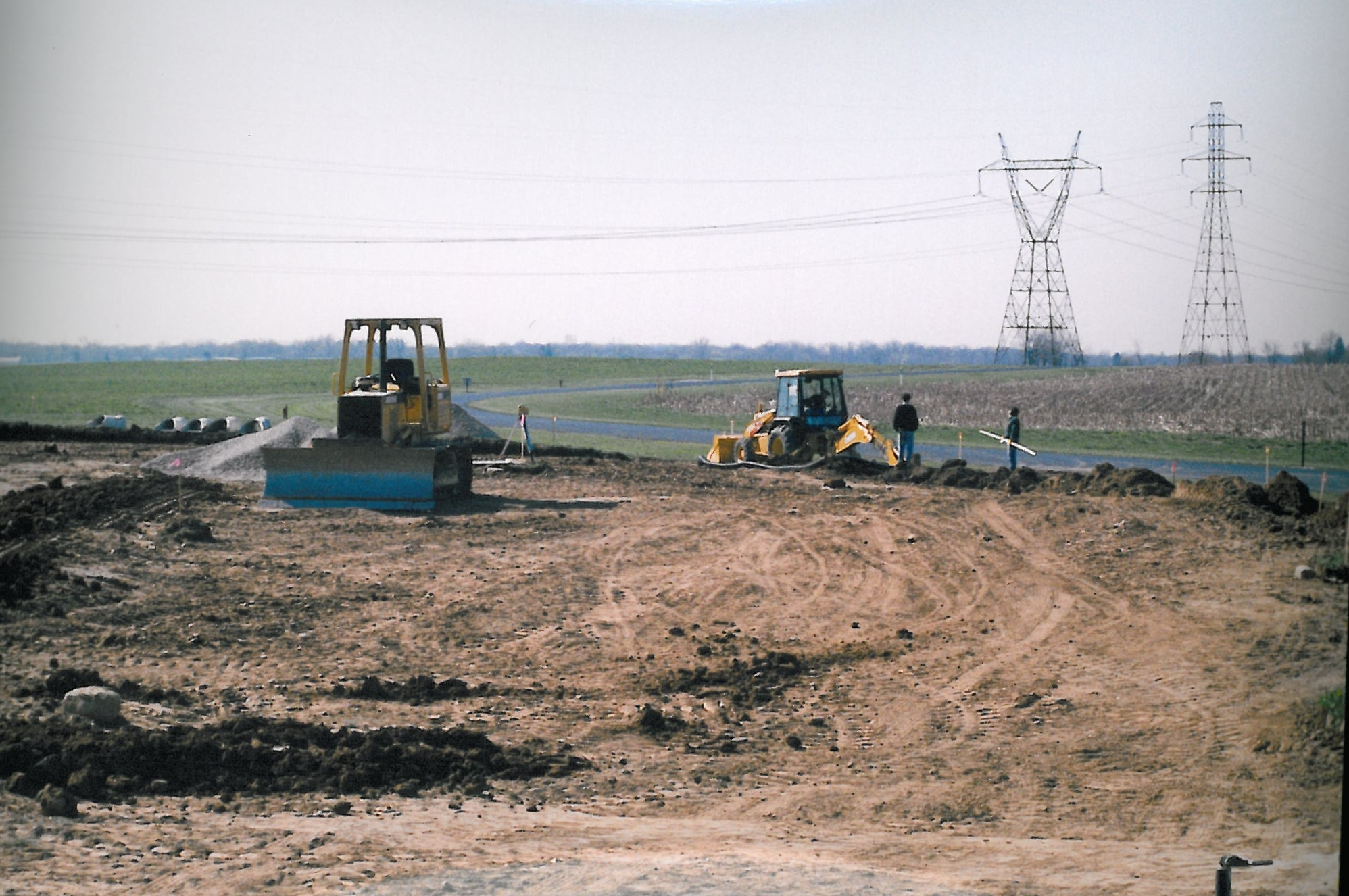 Beginning of construction on the new headquarters building, view facing south toward front of building. c. mid-2000. (Source: National Model Aviation Museum Archives, AMA Collection #0001, Photo Credit: AMA staff.)
