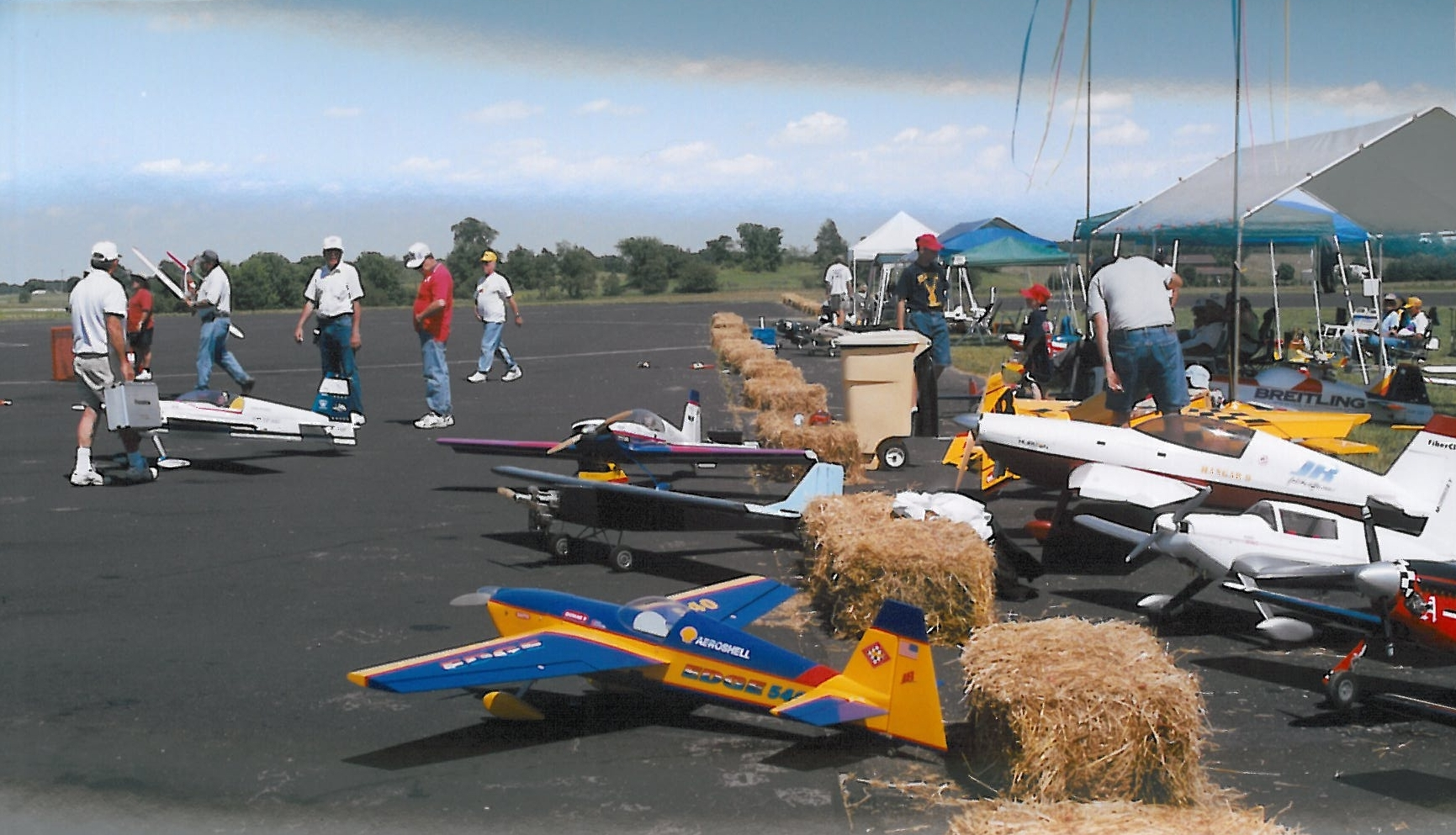 Radio Control model airplane flying on-site, Grand Event, July 9, 2001. (Source: National Model Aviation Museum Archives, AMA Collection #0001, Photo Credit: AMA staff.)