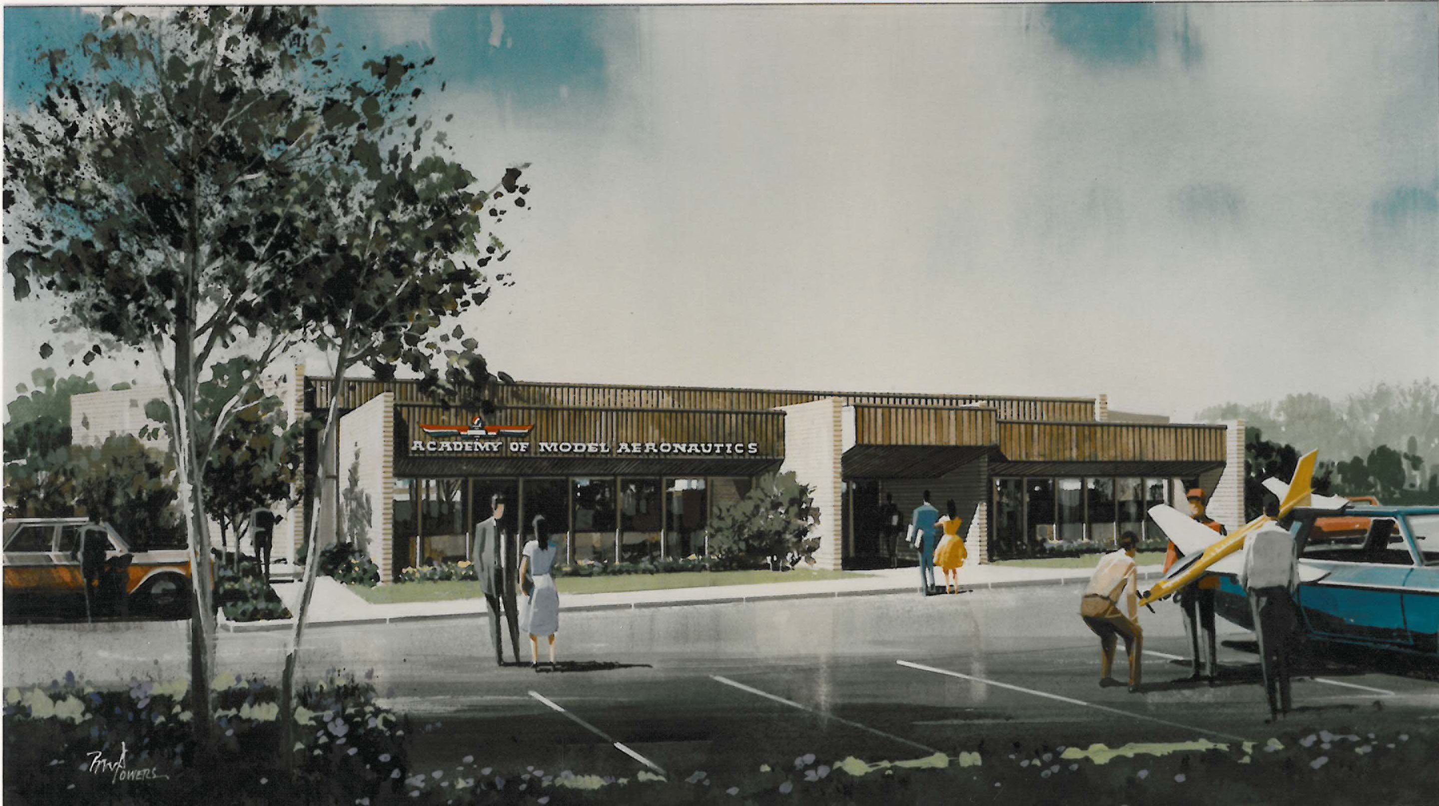 Reston, VA HQ building drawing, 1980s (Source #0001 AMA Collection)
