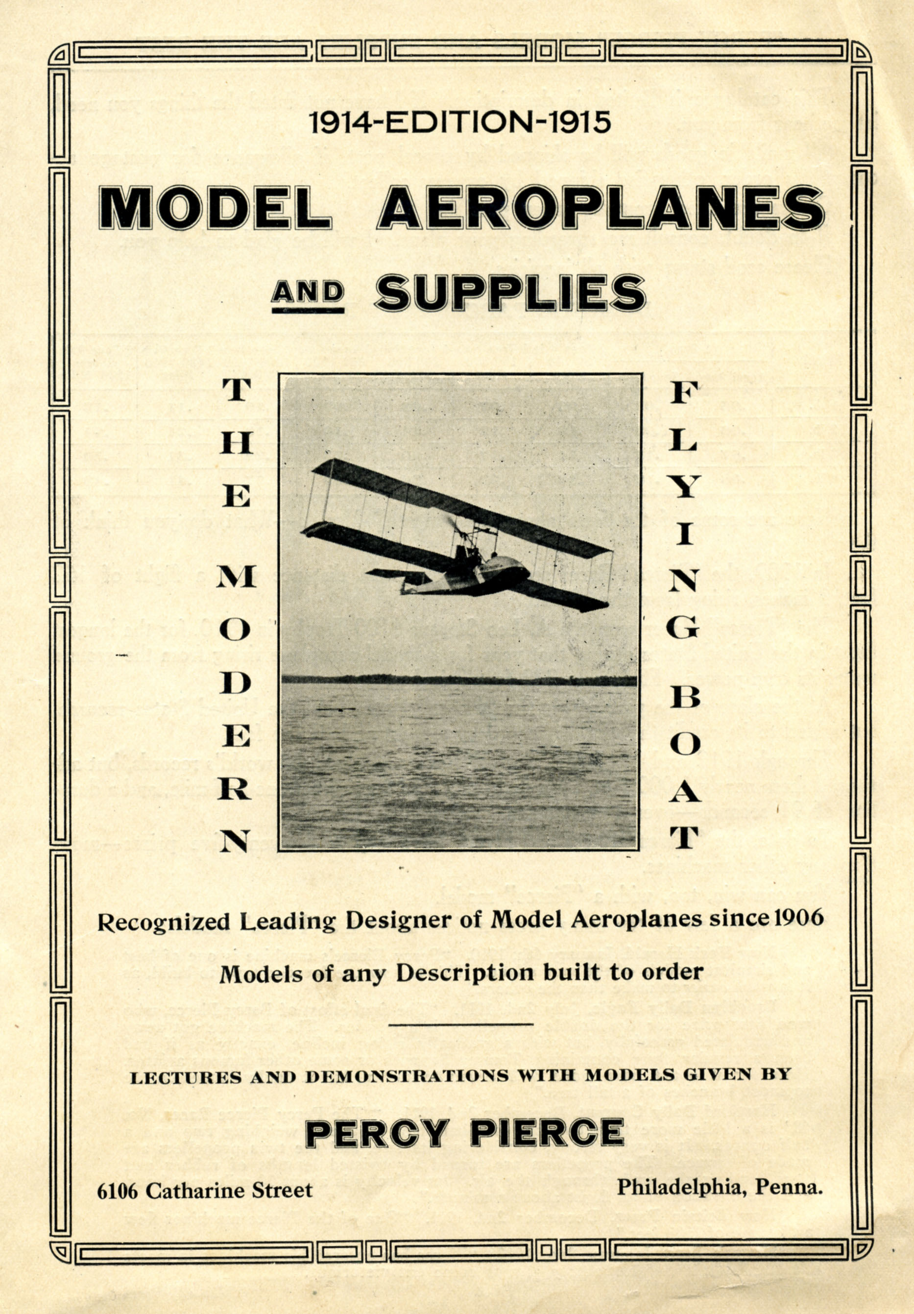 Catalog, Model Aeroplanes and Supplies, 1914-1915. (Source: National Model Aviation Museum Archives, Michael Fulmer Collection #0158)