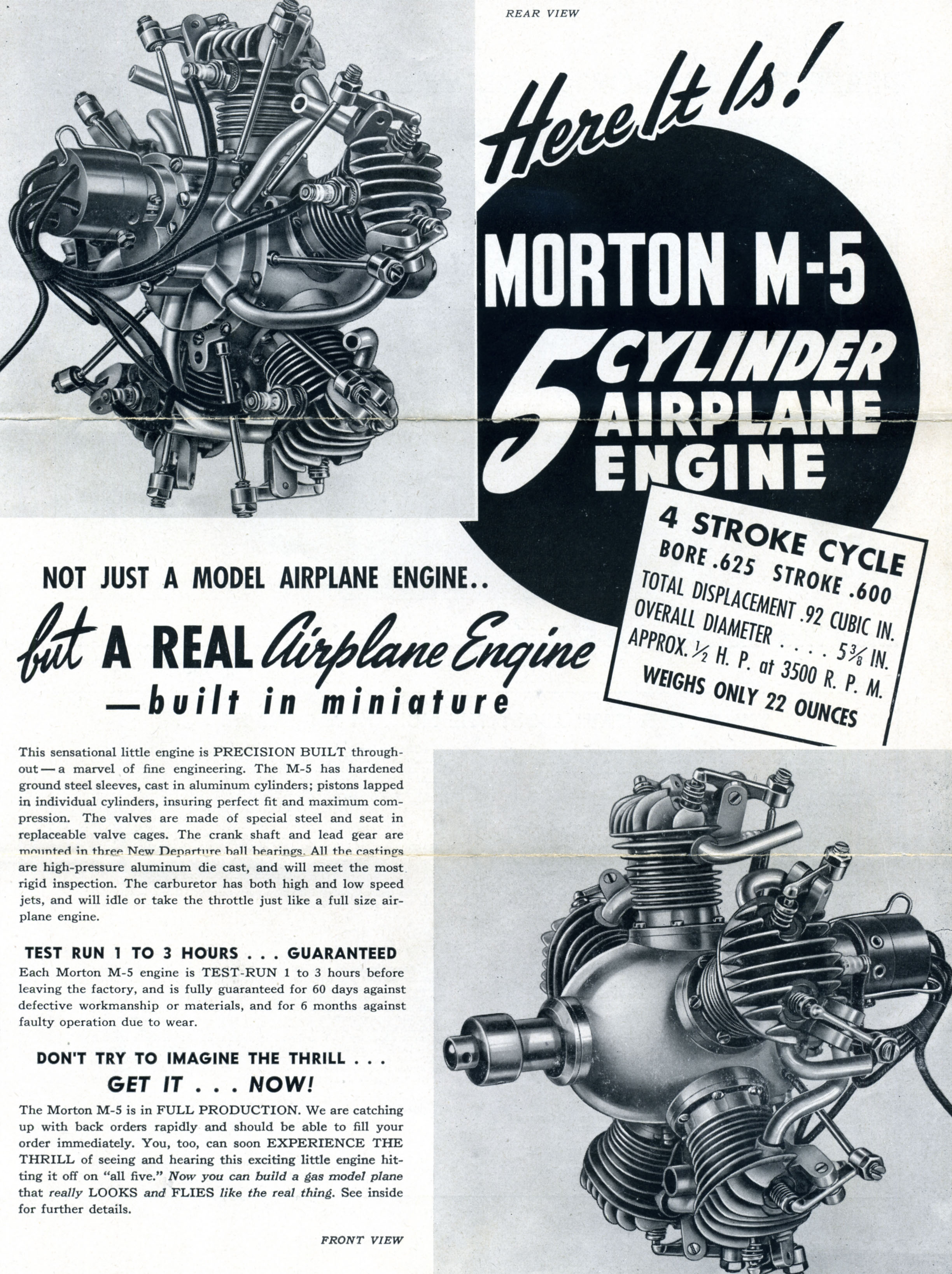 Advertisement brochure, Morton Aircraft Corporation, c. 1945. (Source: National Model Aviation Museum Archives, Manufacturers and Companies Collection #0043)