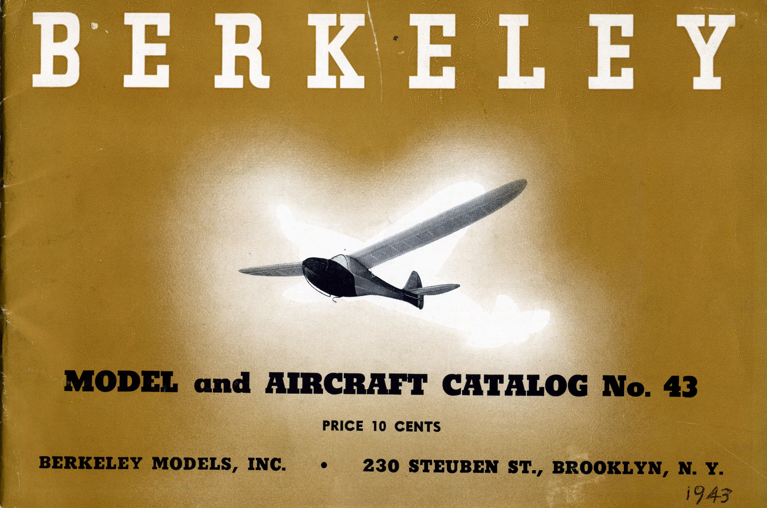 Catalog, Berkeley Models, Inc., 1943, front and page 14. (Source: National Model Aviation Museum Archives, Manufacturers and Companies Collection #0043)