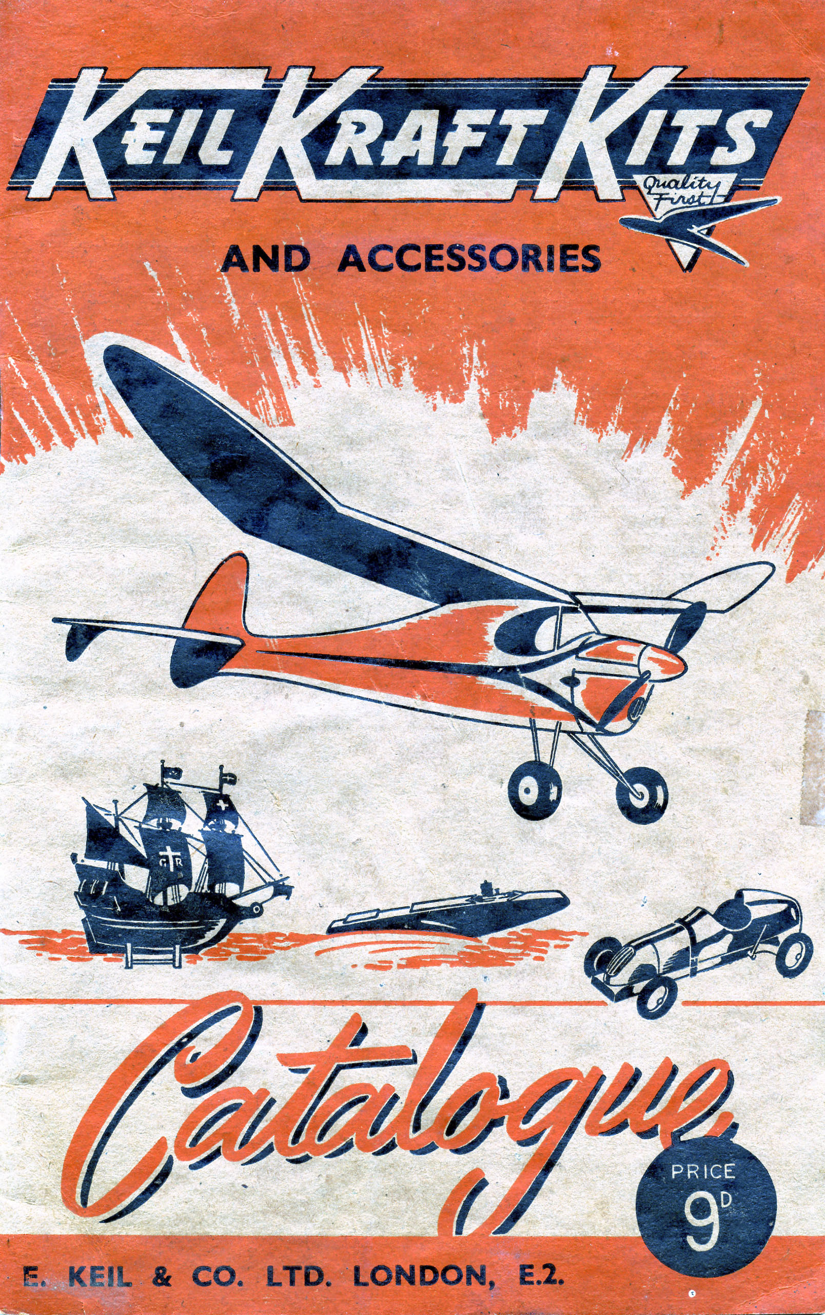 Catalog, Keil Kraft Kits and Accessories, E. Keil & Co. Ltd, 1948. (Source: National Model Aviation Museum Archives, Manufacturers and Companies Collection #0043)