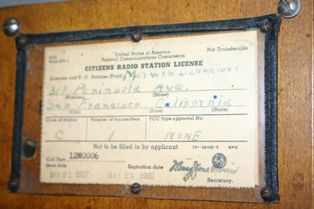 This license authorized the person to operate on a HAM radio frequency, although by this date, 1957, there were license-free frequencies available. (Source: National Model Aviation Museum Collection, Found in Collection, 2010.01.01.)