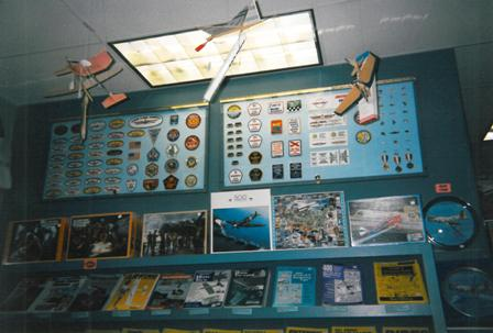 The museum store, circa 1993.  (Source: National Model Aviation Museum Archives, AMA Collection, #0001.)